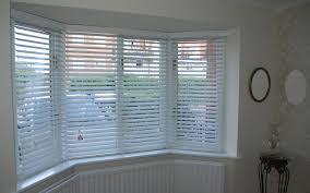 50mm white wooden venetians bay window surrey blinds u0026 shutters