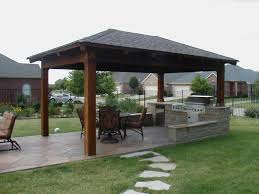 painting of outdoor pavilion plans that offer a pleasant relaxing