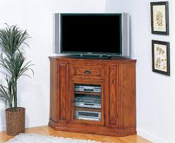 furniture oak corner tv stand with electric fireplace and pull