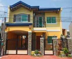 double floor house elevation photos two storey house design with floor plan elevation philippines of