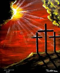 jesus christ three crosses crucifix by teofaith on deviantart
