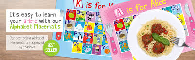 personalised writing paper sets paper gekko personalised children s party packs wrapping paper it s easy to learn your a b c with our alphabet placemats