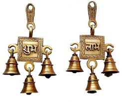 handecor shubh labh hanging bells set brass decorative bell price