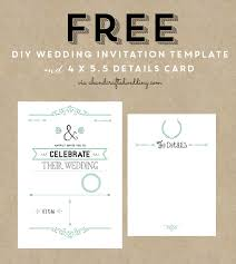 diy wedding invitations templates free rustic wedding invitation templates best template collection