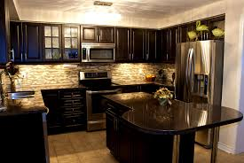 bathroom captivating kitchens dark cabinets and black