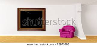 Purple Armchair Purple Armchair Lcd Tv Modern Minimalist Stock Illustration