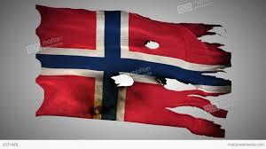 Norweigan Flag Norwegian Perforated Burned Grunge Waving Flag L Stock Video