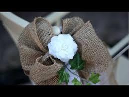 pew bows burlap wedding pew bows