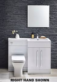 lima 1100 l shaped white gloss bathroom combination unit with basin