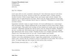 cover letter format latex format