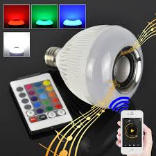 bluetooth music light bulb 12w e27 led rgb wireless bluetooth speaker light bulb music playing
