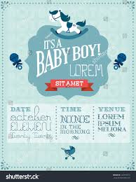 baby boy baby shower invitation card stock vector 123679315