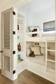 Bookcase Bunk Beds Cottage Boys Bedroom With Built In Bunk Beds Cottage Boy U0027s Room