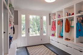 large mudroom transitional laundry room wright building company