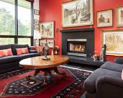 Red And Black Furniture For Living Room by Red And Black Decoration Houzz