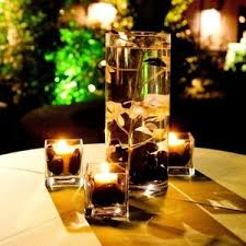 black and gold centerpieces gray and green wedding centerpieces black green white