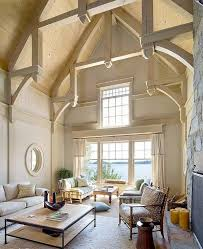 vaulted ceiling design ideas cathedral ceiling design ideas exposed beams natural wood color