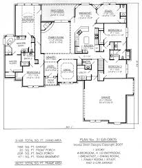 1 story house plans with basement 1 story 4 bedroom 4 5 bathroom 1 dining room 1 breakfest area