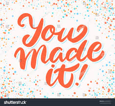 Congratulation Banner You Made It Congratulations Banner Stock Vector 619829873