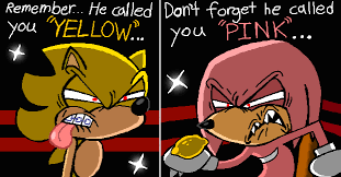 Sonic The Hedgehog Meme - super sonic v s super knuckles sonic the hedgehog know your meme