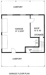apartments garage floor plans with living quarters bedroom