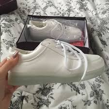 shoes with lights on the bottom topshop shoes white sneakers with led lights in the bottom poshmark