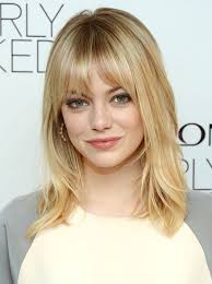 hairstyles shoulder length hairstyles with bangs for older women