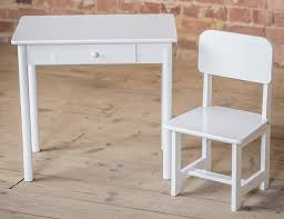 white kids desk and chair set 10847