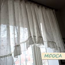 Ruffled Kitchen Curtains by Online Get Cheap Ruffled Kitchen Curtains Aliexpress Com
