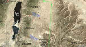 middle east map moses time the exodus route 15 stops between kadesh barnea to