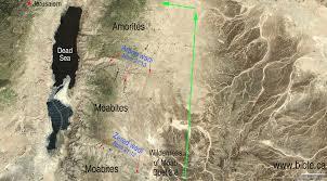 Jordan River Map The Exodus Route 15 Stops Between Kadesh Barnea To Jordan