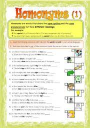 printables homonyms worksheets ronleyba worksheets printables