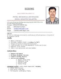 Formal Resume Format Sample by Offshore Resume Objective Contegri Com