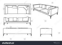 sketch sofa stock illustration 123695401 shutterstock