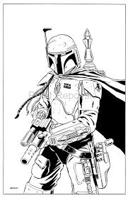 boba fett drawing outline google search stencils and templates