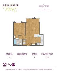 Grand Arena Grand West Floor Plan by Adams Morgan Apartments In Washington Dorchester West