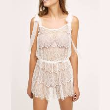 honeymoon sleepwear ruffled lace romper boudoir honeymoon comfy sleepwear pjs
