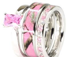 pink camo wedding rings pink camo jewelry etsy