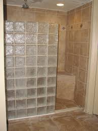bathroom glass block shower design ideas with tile wall and