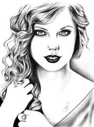 high contrast taylor swift drawing by sadielrodriguez on deviantart