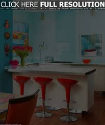 kitchen colors orangearts simple design with blue island ideas