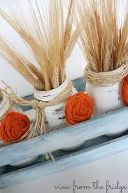 jar centerpieces fall jar centerpieces and how to make burlap rosettes