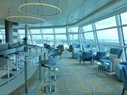 dining on the celebrity silhouette cruise ship the sky observation bar on the celebrity reflection