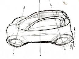 how to sketch a car in top view car body design