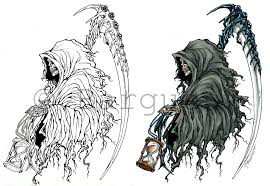 collection of 25 tribal grim reaper on back
