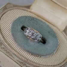 deco 16 two tone 18 rambling estate and vintage engagement rings in orange california