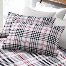 bedroom amusing tribeca living 200 gsm plaid printed deep pocket