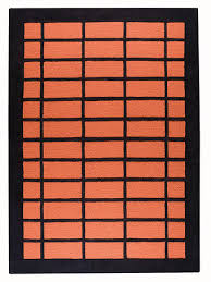 Orange Modern Rugs Pangea Textured Rugs Collection Modern Rugs