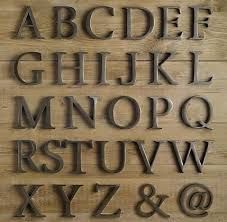 metal letters love these decorative cast metal letters homegoods pinterest