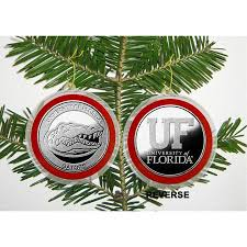 buy ncaa florida gators silver coin ornament in cheap price on